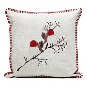 Peggy Wilkins Pussywillow Christmas Robin Complete Cushion