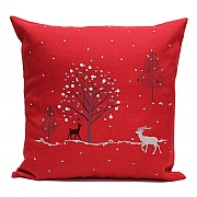 Peggy Wilkins Rivington Embroidered Red Christmas Woodland Complete Cushion