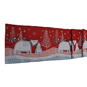 "Peggy Wilkins Ice Bear Christmas Tapestry Table Runner 13""x72"""