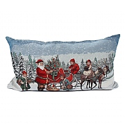 Peggy Wilkins Reindeer Ride Tapestry Complete Christmas Cushion