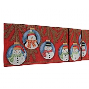 "Peggy Wilkins Snow Baubles Christmas Tapestry Table Runner 13""x72"""