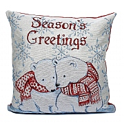 Peggy Wilkins Cuddling Cubs Tapestry Complete Christmas Cushion