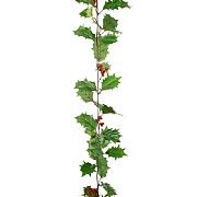 Floralsilk Holly Garland with Berries 1.8m