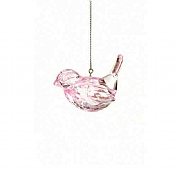 Floralsilk Pink Crystal Bird Hanger