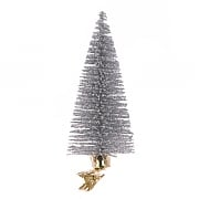 Floralsilk Silver Christmas Tree Clip