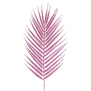 Floralsilk Pink Glittered Fern Spray