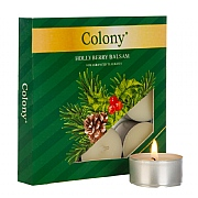 Colony Hollyberry Balsam Tealights (Box of 9)
