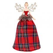 Gisela Graham Small Tartan Tree Top Fairy