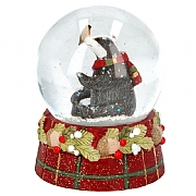 Gisela Graham Medium Tartan Badger Snow Globe
