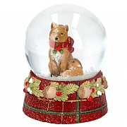 Gisela Graham Medium Tartan Fox Snow Globe
