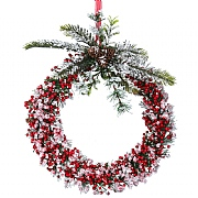 Gisela Graham Medium Red Snowy Berry Wreath