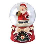 Gisela Graham Mini Scandi Santa Snow Globe 45mm