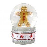 Gisela Graham Medium Gingerbread Man Glass Snow Globe