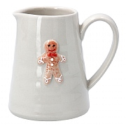 Gisela Graham Ceramic Mini Jug with Gingerbread Man