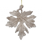Gisela Graham Gold Glitter Acrylic Maple Leaf Decoration