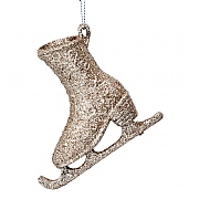 Gisela Graham Gold Glitter Skating Boot Decoration