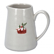 Gisela Graham Ceramic Mini Jug with Plum Pudding