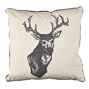 Kilburn & Scott Ink Stag Cushion 45x45cm Natural
