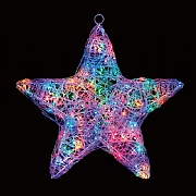 Premier 58cm Multi Coloured LED Acrylic Star