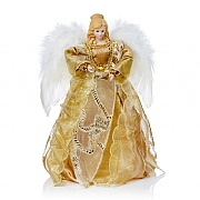 Premier Gold with Feather Wings Tree Top Angel 30cm