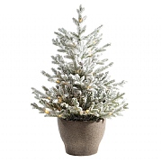 3ft Pre-Lit Snowy Norway Potted Artificial Christmas Tree