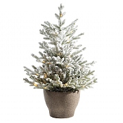4ft Pre-Lit Snowy Norway Potted Artificial Christmas Tree