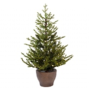 4ft Pre-Lit Norway Potted Artificial Christmas Tree