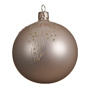 Decoris Pearl with Branches 80mm Glass Bauble