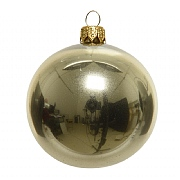 Decoris Champagne 80mm Plain Shiny Bauble