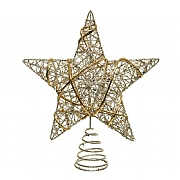 Decoris Champagne Iron Tree Top Star