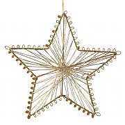 Decoris Gold Metailic Star with Hanger