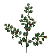 Decoris Green & Red Holly Berry Spray