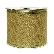 Decoris Light Gold Ribbon Mesh with Glitter 2.7m