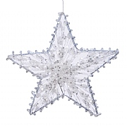 Decoris White Star with Rope Hanging Decoration