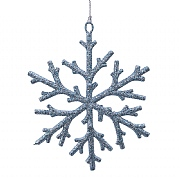 Decoris Winter Sky 16cm Plastic Snowflake