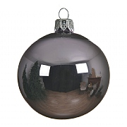 Decoris Frosted Lilac Shiny 80mm Bauble