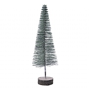 Decoris Green Plastic Tree with Glitter 44cm