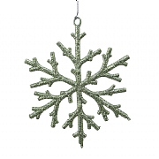 Decoris Sage Green Glitter Snowflake