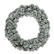 Everlands Snowy Imperial Wreath 50cm