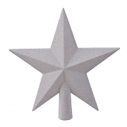 Decoris Winter White Tree Top Star with Gitter