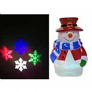 Lumineo Multi Colour LED Snowman Projector (Battery Operated)