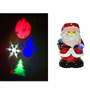Lumineo Multi Colour LED Santa Projector (Battery Operated)