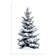 Snowy Tree LED Canvas 40x30cm