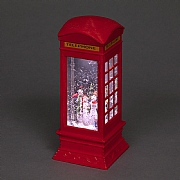 Snowmen LED Water Filled Telephone Box