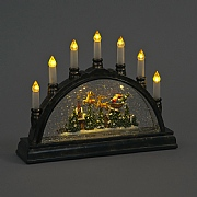 Santa and Sleigh LED Water Filled Candle Arch