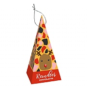 Treat Kitchen Hanging Pyramid Decoration Chocolate Reindeers 80g