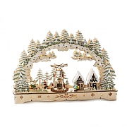 Konstsmide Wooden Village Scene Welcome Light