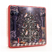 Grandma Wild's Decorated Christmas Tree Shortbread in Embossed Tin 400g