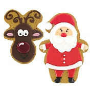 Iced Gingerbread Deluxe Reindeer & Santa 35g/55g (Assorted Designs)