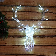 LED Jewelled Stag's Head 85cm